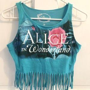 GIRLS Disney Alice In Wonderland Fringe Tank SZ M